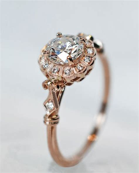 impossibly beautiful rose gold wedding engagement rings