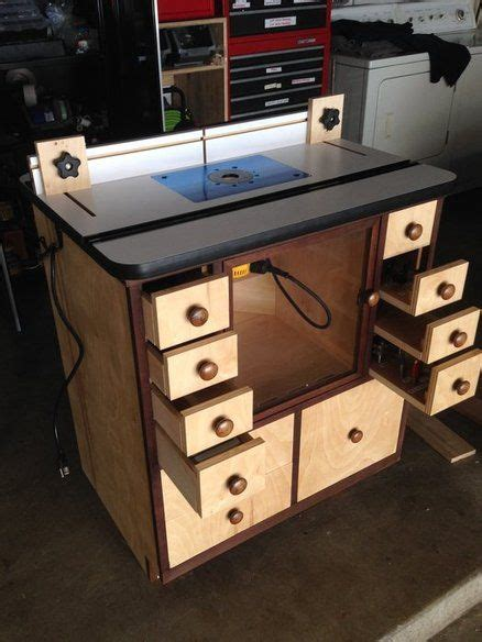 router table cabinet woodworking project design