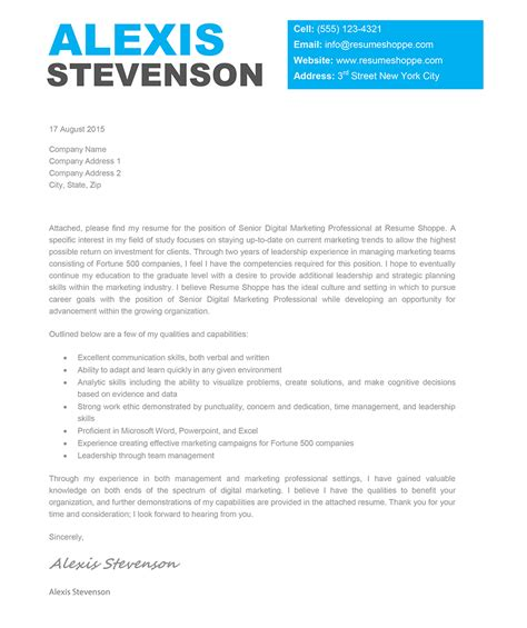 the cover letter creative cover letter