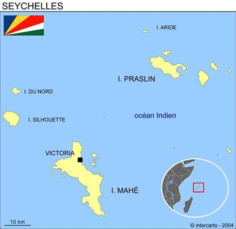 Carte Du Monde Avec Les Seychelles by Carte G 233 Ographique Et Touristique Des Seychelles