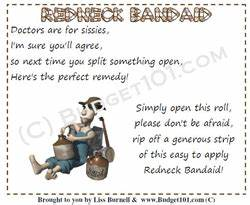 Redneck Bandaid Gag Gift Idea