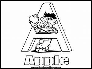 letter w coloring pages sesame street freecoloring4ucom With sesame street alphabet letters