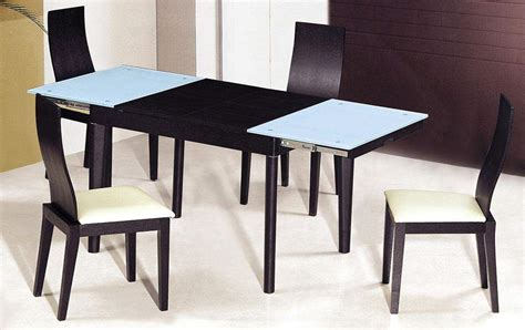 extendable wooden  glass top modern dining table sets