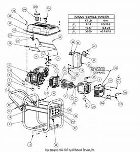 Homelite Hg3500 Series Electric Generator Parts Diagram