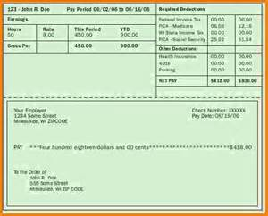 Free Blank Pay Stub Template