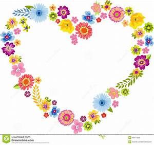 Herz Mit Blumen : herz fr hlings blumen rahmen vektor abbildung illustration von karikatur blume 49477629 ~ Frokenaadalensverden.com Haus und Dekorationen