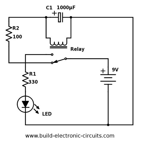 Blinking Led Circuit With Schematics Explanation