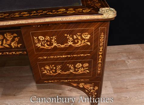 bureau louis 15 louis xv knee desk writing table bureau inlay