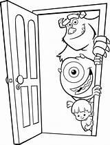 Coloring Door Inc Mike Boo Monster Monsters Sulley Wazowski Doors Sullivan Colorear Para Disney Takes James Coloringpagesfortoddlers Dibujos Soft Care sketch template