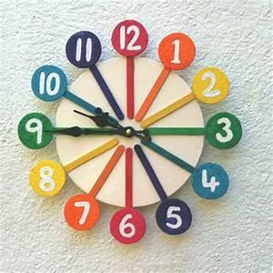 HOME DZINE Craft Ideas Make a rainbow clock with