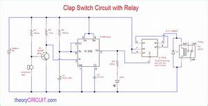 Clap Switch Circuit With Relay