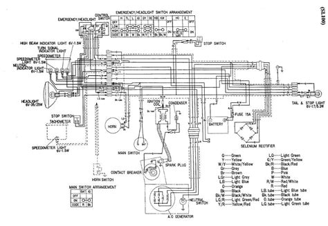 wiring diagram of honda sl 100 motorcycle auto wiring diagram