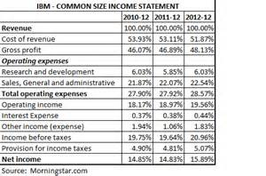 Income Statement Template Excel Common Size Statements Best Template Collection