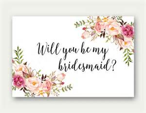 bridesmaids cards will you be my bridesmaid printable bridesmaid card