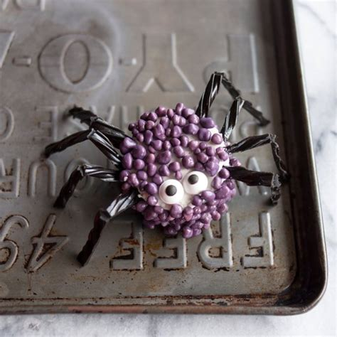 candy coated marshmallow spiders fun family crafts