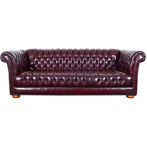 vintage chesterfield leather sofa vintage burgundy leather chesterfield sofa for sale at 1stdibs