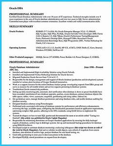 Invoice Inventory High Impact Database Administrator Resume To Get Noticed