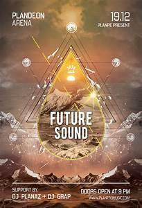 futuristic flyer poster free graphics