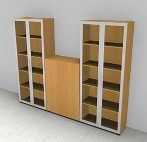Schrankwand Mit Integriertem Schreibtisch : b ro schrankwand basis 6 b roschrank 3tlg mit glast ren ~ Watch28wear.com Haus und Dekorationen