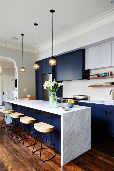 kitchen color inspiration  shades  blue cabinets