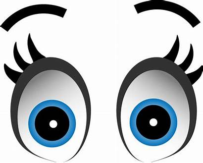 Eyes Cartoon Transparent Clipart Expression Animated Clip