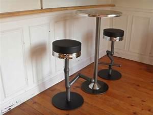 Table Bar Industriel : table industriel mange debout style and steel jpg tables bureaux lampes luminaires ~ Teatrodelosmanantiales.com Idées de Décoration