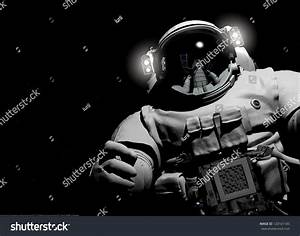 Astronaut On Black Background Stock Illustration 120161185 ...