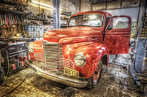 Vintage Auto Service Garage By Debra And Dave Vanderlaan