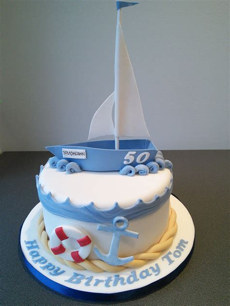 Sailing Boat Cake by Sailing Boat Birthday Cake τούρτες καράβι In 2018