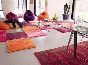 comment customiser son tapis de salon With tapis deco salon