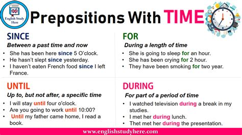 prepositions  time