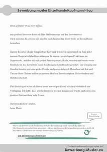 Bewerbung Kaufmann Im Einzelhandel : bewerbungsvorlage einzelhandelskaufmann kauffrau ~ Orissabook.com Haus und Dekorationen
