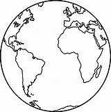 Globe Coloring Earth Clipartmag sketch template
