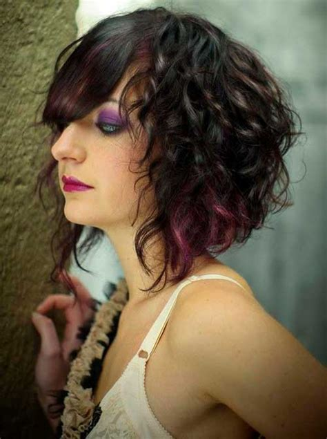 10 curly asymmetrical bob hairstyles 2017 2018 most popular hairstyles