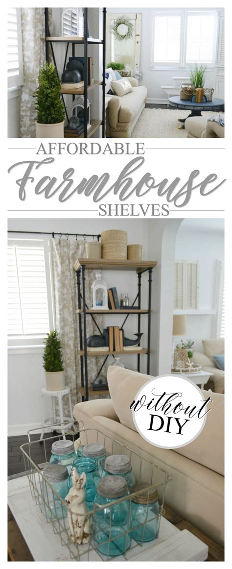 Affordable Farmhouse Shelves No Diy Required  Fox Hollow