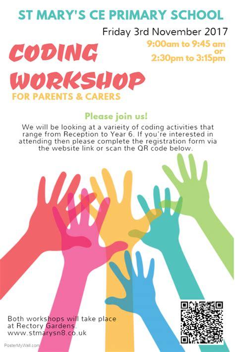 coding workshop  parents carers st marys  hornsey
