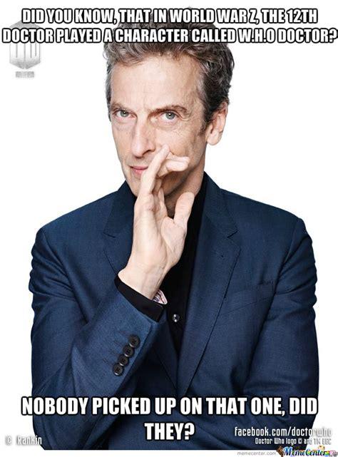 Dr Who Birthday Meme - 12th doctor by johnzon meme center