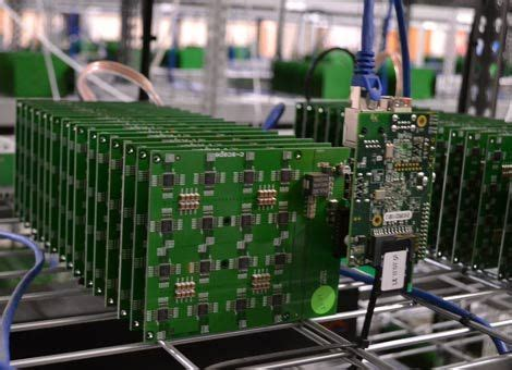data mining bitcoin bitcoin mining boards packed with asic chips fill the