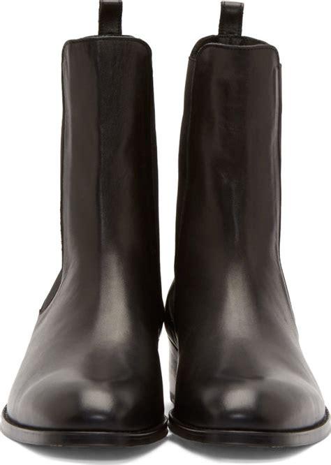 juunj black leather tall chelsea boots  men lyst