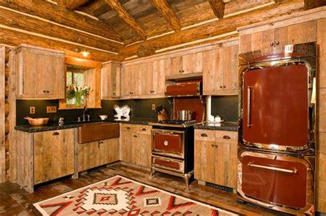 rustic red kitchens rustic kitchen design log cabin