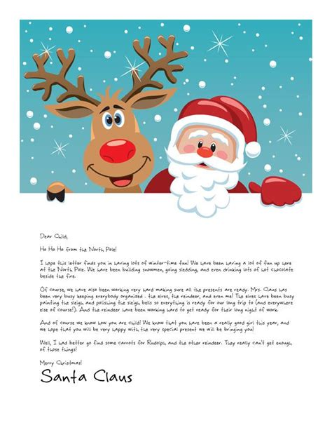 letter from santa template easy free letter from santa magical package santa 28669