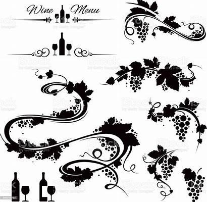 Grape Vines Wine Vineyard Icons Uva Clipart