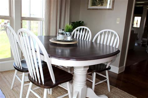 kitchen table makeover using chalk paint and stain love our real life