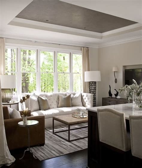 ceiling color for gray walls interior design inspiration photos by heather garrett design