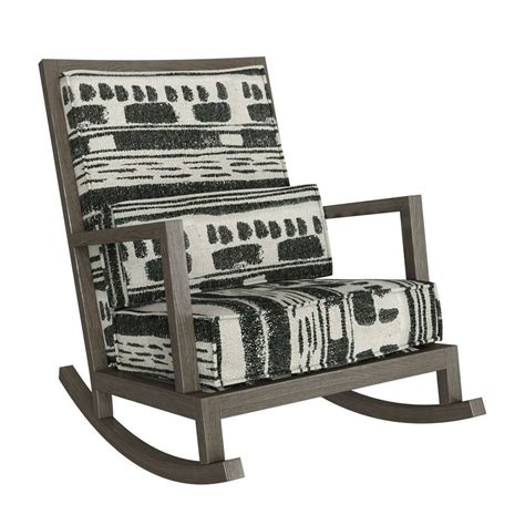 crate and barrel jeremiah fabric back rocking chair 3d