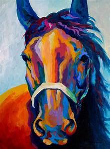 Schilderij paard abstract