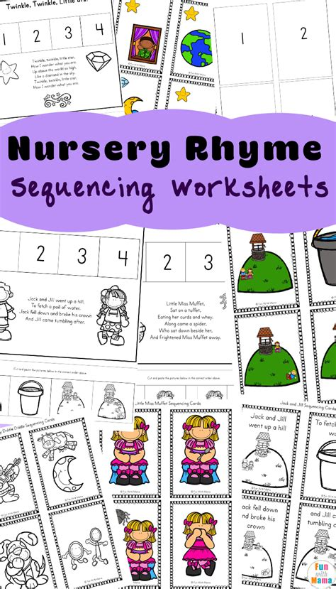 free nursery rhymes sequencing activities with