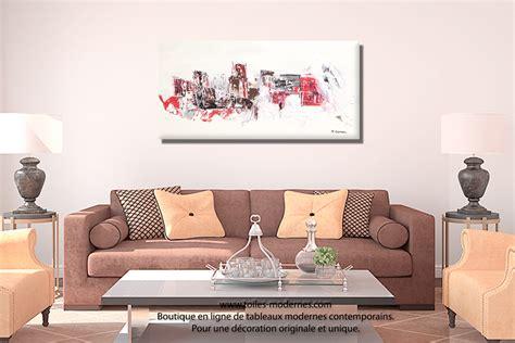 couleur peinture chambre à coucher grande toile abstraite mer beige clair format panoramique