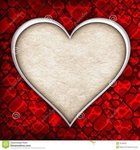 valentines day background template stock illustration