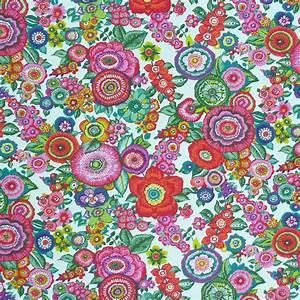 Stoff Mit Blumen : baumwollstoff amparo blumen bunt auf wei stoffe stoffe gemustert stoff blumen ~ Watch28wear.com Haus und Dekorationen